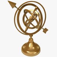 3ds max armillary sphere