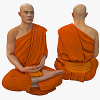 Buddhist Monk Seated Meditation Pose