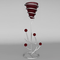 3d model decorative candlestick