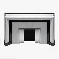 faireplace art deco marble 3d model
