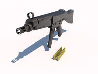 3d mp5 submachine gun