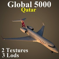 bombardier global qtr 3d max