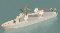 3d model project osa missile boats