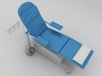 patient bed 3d max