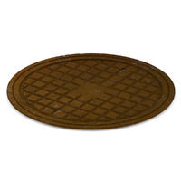 3d sewer manhole