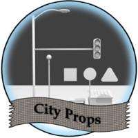 3d model of city props