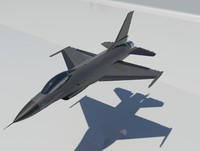3d model lockheed martin f-16 fighting falcon