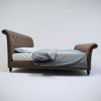 bed bedcloth 3d model