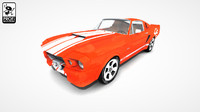 american muscle car sports 3d max