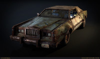 3d post apocalyptic car