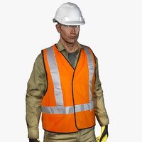 vr safety worker 3d max