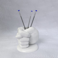 3d fig sign pen cup