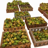 Pear Fruit Crates Case Market Store Shop Convenience General Grocery Greengrocery Detail Prop Fair Plantation Jungle South Plant Garden Greenhouse