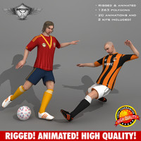 3d soccer player animations