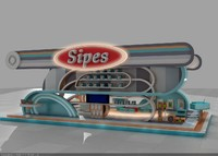 3d model booth sipes exhibition