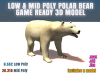 polar bear ready 3d max
