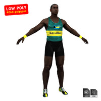 athlete sprinter sport 3d model