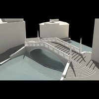 real bridge venice 3d model