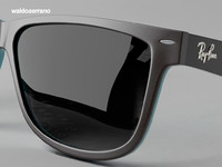 sunglasses rayban 3d model
