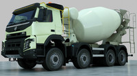 fmx truck concrete mixer 3d model