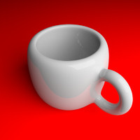 3ds max cup drinking tea