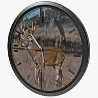 deer scope wall clock lwo