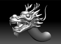 3d head chinese dragon model