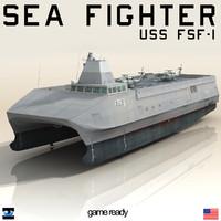 uss fsf 1 sea 3d max