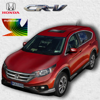 3d model honda cr-v multicolor