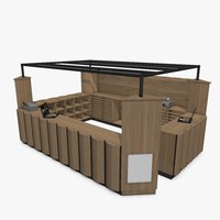 kiosk architecture store 3d model