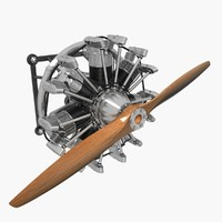 rotec r2800 radial engine 3ds