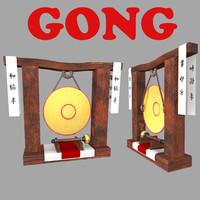 3d model asian gong