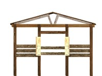 3ds animal horse pen stall