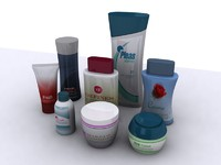3d max cosmetic bottles cans