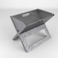 3d model of bbq grill