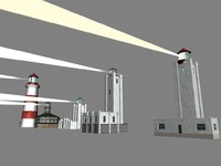 lighthouses alaska 3d model