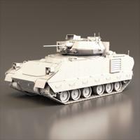 3d m2a2 bradley tank model