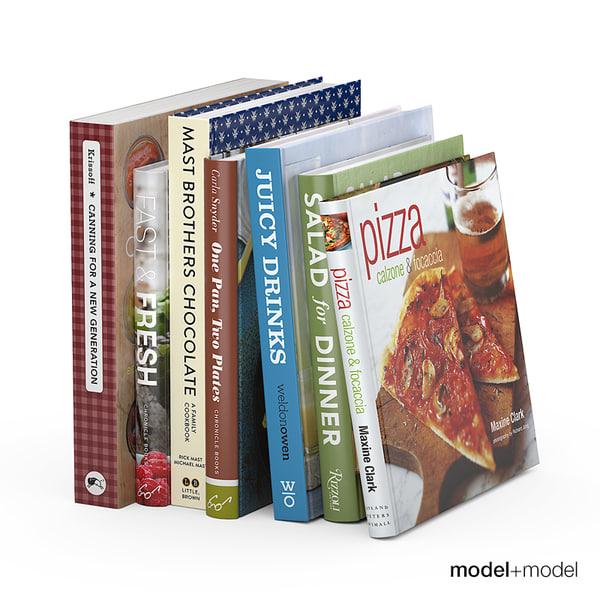 3d set kitchen books stand. Black Bedroom Furniture Sets. Home Design Ideas