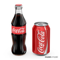 free coca-cola bottle 3d model