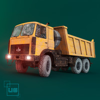3d model car truck dumper maz