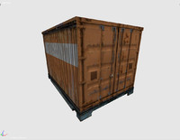 shipping cargo container 3d model