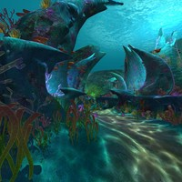 sea undersea 3d model