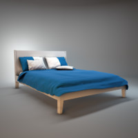 ikea nordli bed 3d model