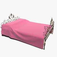3d model forged bed