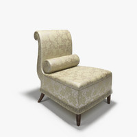 baker slipper armchair chair 3d max