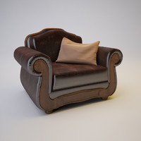 barcelona antique armchair 3d max