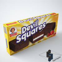 little debbie devil squares 3d model
