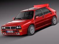 3ds max car classic lancia delta