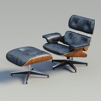 lounge chair charles eames 3d obj