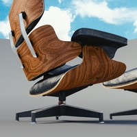 3d model lounge chair charles eames